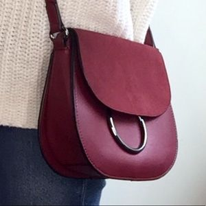 French Connection Delaney Crossbody Bag Bordeaux
